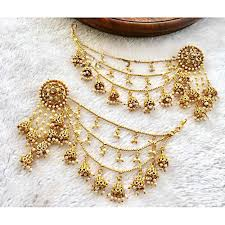 zee sy earrings for women 0176 golden