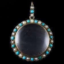 pearl pendant rock crystal locket
