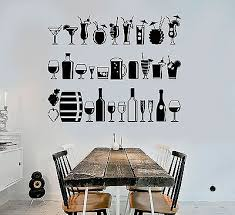Ig4417 Vinyl Wall Decal Alcohol Bar Drink Party Lounge Restaurant Stickers