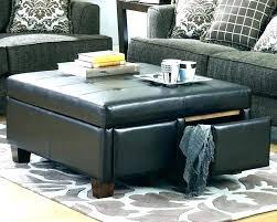 square leather ottoman storage