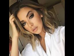 full face makeup with white dress you