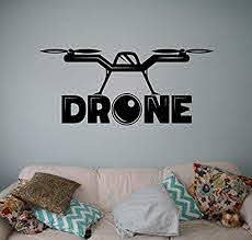 Amazon Com Wall Vinyl Decal Quadcopter Camera Air Drone Sticker Aircraft Home Art Decor Ideas Interior Removable Kids Room Design Hds8834 Home Kitchen