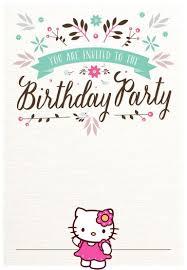 Free Hello Kitty Birthday Party Invitation Hello Kitty Birthday Invitations Hello Kitty Birthday Party Hello Kitty Invitations