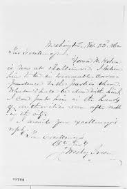 John Wesley Greene to Abraham Lincoln, Saturday, November 22, 1862  (Disloyalty of Horace Wilson) - PICRYL Public Domain Image