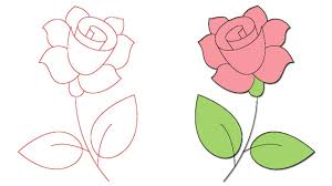 رسم وردة Dibujo Rosa How To Draw A Rose Youtube