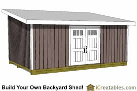 lean to shed plans easy to build diy
