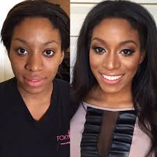 highlighting contouring before after