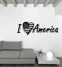 Large Vinyl Decal Wall Sticker Love Usa Word Lettering Unique Gift Roo Wallstickers4you