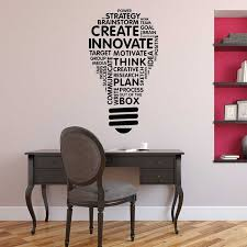 Idea Light Bulb Word Cloud Vinyl Wall Art Decal