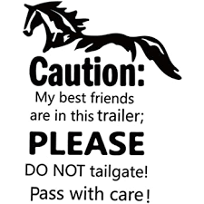 Amazon Com Thoroughbred Equestrian Horse Trailer Decal Sticker Graphic Mural Tack Supplies Aa01 Kitchen Dining