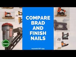 brad nails and finish nails