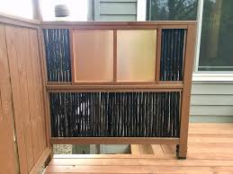 Bamboo Privacy Fence I Made Hopefully It S Looks Like Those Expensive Japanese Style Fence Panels Wood Copper Sheet All From Home Depot Bamboo Online Woodworking
