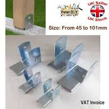 Galvanised Bolt Down Base Post Support Fence Foot Base Brackets 45 101 Mm Ebay