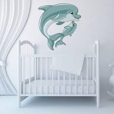 Mama And Baby Dolphin Wall Decal Style And Apply