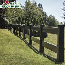 China Uv Proof 2 Rails Black Pvc Vinyl Horse Farm Fencing China Pvc Horse Fence Pvc Fence