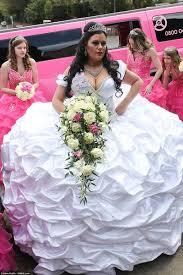 a ten stone wedding dress