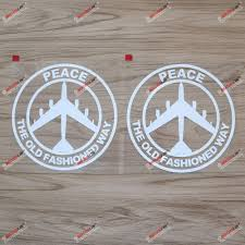 Amazon Com 2x White 6 Peace Air Force B 52 B52 Decal Sticker The Old Fashioned Way Car Vinyl No Bkgrd Arts Crafts Sewing