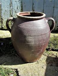 large french antique earthenware pot
