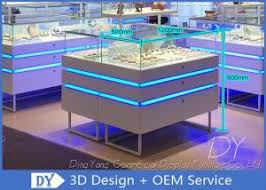jewelry show cases with led lights