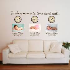 In These Moments Time Stood Still Custom Monogram Date Quote Wall Decals