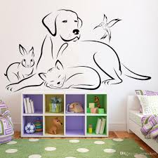 Animals Vinyl Wall Decal Living Room Dog Bird Cat Veterinary Medicine Wall Stickers For Pets Shop Modern Home Decoration Wall Mural Decal Vinyl Art Stickers From Joystickers 11 75 Dhgate Com