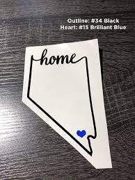 Amazon Com Nevada State Home Decal Nv Home Car Vinyl Sticker Add A Heart Over Las Vegas Reno Henderson Sparks Elko Fernley Made With Outdoor Vinyl Handmade