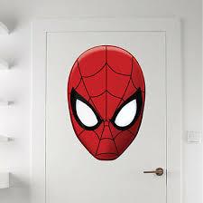 Laptop Decal B04 Spider Man Decor Spiderman Bedroom Vinyl Wall Decal Sticker Home Garden Decor Decals Stickers Vinyl Art