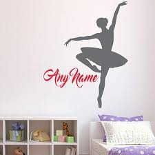 Personalized Name Ballerina Wall Decal Custom Name Wall Stickers For Girls Nursery Room Ballet Teens Girl Room Wall Decals Art Wall Decals Canada From Onlinegame 11 31 Dhgate Com
