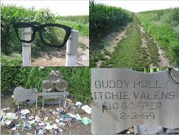 "Image result for Buddy Holly, Ritchie Valens and J.P. ""The Big Bopper"" memorials"