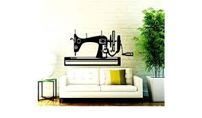 Amazon Com Diuangfoong Sewing Machine Wall Decals Sew Studio Decal Sew Vinyl Sticker Decor Home Home Kitchen