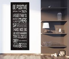 Family Rules Wall Art Be Positive Speak The Truth Framed Canvas Wall A