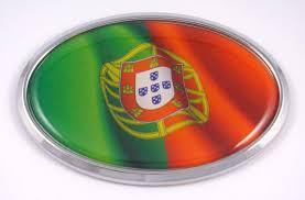 Amazon Com Portugal Portuguese Oval Car Chrome Emblem Decal Bumper Sticker Automotive