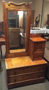 antique dresser maple hat box tilt