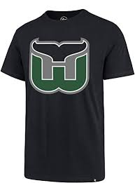 Amazon Com Hartford Whalers Men S Super Rival Logo T Shirt Navy Clothing