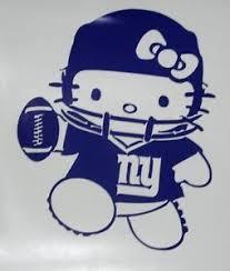Hello Kitty New York Giants Football Car Truck Window Vinyl Decal New York Giants Football Giants Football Ny Giants