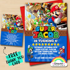 Super Mario Bros Party Cumpleanos De Super Mario Invitan A