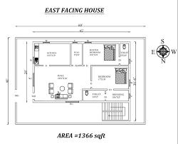 east facing 2bhk house plan