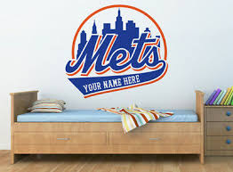 Personalized New York Mets Logo Wall Decal W Your Name Or Original Wording Ebay