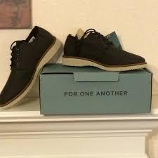 toms shoes preston derby laceup nib
