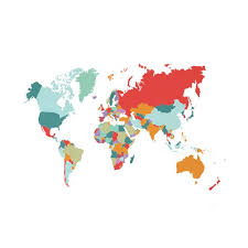 Toyfunny Various Colorful World Map Removable Vinyl Decal Wall Sticker Home Room Decor Walmart Com Walmart Com