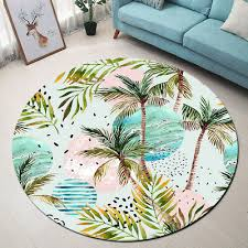 memory foam tropical palm trees carpet