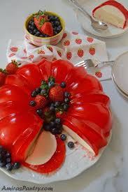 strawberry jello cream cheese bundt