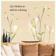 Large Size 3d Green Lily Flowers Vinyl Wall Stickers Home Decor Diy Living Room Sofa Wall Decals Home Decoration Wall Papers Wall Vinyl Decals Wall Vinyl Sticker From Toto5 10 17 Dhgate Com