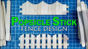 Popsicle Stick Miniature Fence Part 3 Diy Full Tutorial Youtube
