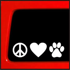 2020 Peace Love Paw Dog Vinyl Car Decal Die Cut Sticker Color White Wide Pvc Sticker Cartoon Stickers Vinyl Stick From Royal120 2 2 Dhgate Com