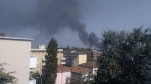 Densa nube di fumo nel cielo di Gallarate: incendio in zona ...