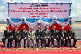 bridgestone lays foundation stone for