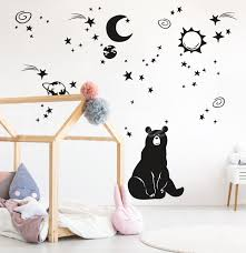 Big Bear Wall Decal Space Constellation Design Kid Room Cosmos Design Interior Design Elements Ht043 In 2020 Bear Wall Decal Kids Room Wall Decals Interior Design Elements