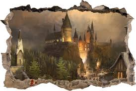 Amazon Com Hogwarts Harry Potter Smashed Wall Decal Wall Sticker Art Mural H327 Giant Home Kitchen