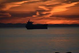 Ship in the bay at sunset Vancouver BC Canada Photograph by Ivan ...